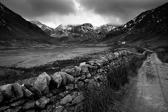 """Cold winter light"" Nant Ffrancon by Raymond Kerr"