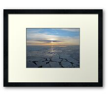 freezing sunrise offshore Framed Print