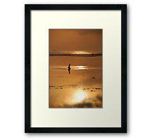 seaweed gatherer Framed Print