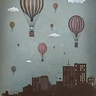 balloons and the city by soltib