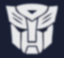 Halftone Autobot Symbol, White Kids Clothes