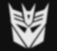Halftone Decepticon Symbol, White by WUVWA