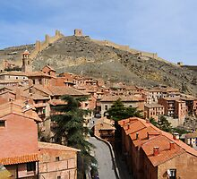 Rooftops and fortifications, Albarracin, Aragon, Spain by Andrew Jones
