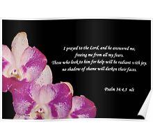 Psalms 34:4,5 Poster