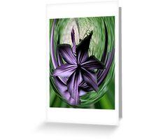 Purple Swoon Greeting Card