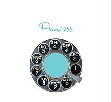 Blue & White Rotary Dial iPhone Case by shixa
