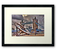tower Bridge and Sundial Framed Print