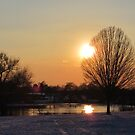 Snow Sunset 2 by Peter Barrett