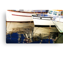 Boats Reflections - Wollongong Harbour - Canvas Print