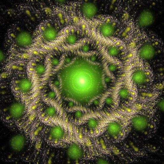 'Green Dream (Embryonics)' by Scott Bricker