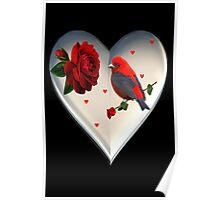 "*•.¸♥♥¸.•*CARDINAL HEART OF LOVE ""DID I TELL U THAT I LOVE U""??*•.¸♥♥¸.•* Poster"