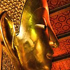 Portrait: The Reclining Buddha, Wat Pho, Bangkok, Thailand by Carole-Anne