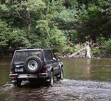 4wd - fording Arthur River, nw Tasmania by gaylene