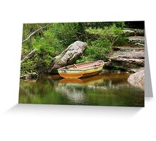 So I Leave My Boat Behind..... Greeting Card