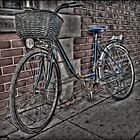 Bike with Basket. by Nigel Butterfield