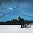 Salt Flats Racer 2 Painting by Richard Yeomans