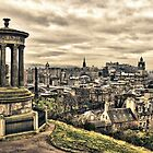 Edinburgh at Calton Hill  by Wendy  Rauw