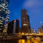 Marina City with soft clouds by Sven Brogren
