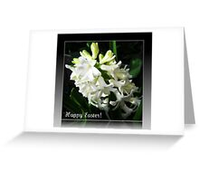 Easter Card with Dreamy White Hyacinth Greeting Card