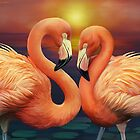 Flamingo Love by Shannon Posedenti