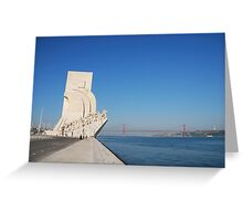 Monument to the Discoveries in Lisbon Greeting Card
