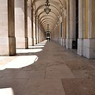 Commerce square arcades in Lisbon by luissantos84