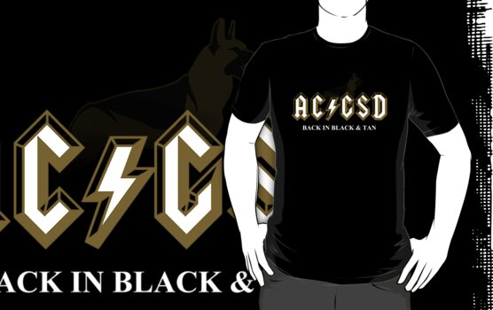 AC/GSD Back in Black & Tan by katmomma