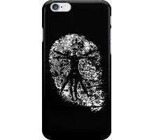 Vitruvian Man Fingerprint (Dark) iPhone Case/Skin