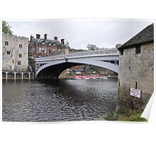 THE LENDAL BRIDGE, YORK Poster