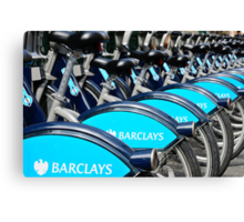 Boris Bike Blues Canvas Print