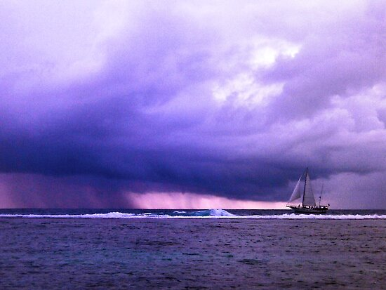 Sailing into the storm by Chris Brunton