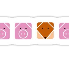 3 little pigs  Sticker