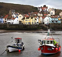 Staithes Harbour by Theresa Elvin