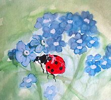 Forget Me Not Ladybug by TrixiJahn