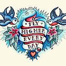 Tattoo - Fly Higher Every Day by Helen Aldous