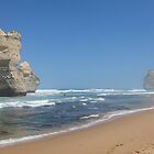 12 Apostles from the Beach by Robert Stephens