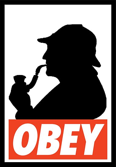 OBEY Sherlock by Royal Bros Art