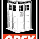 OBEY Tardis by Royal Bros Art