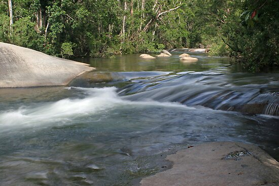 Creek Below Murray Falls FNQ by STHogan