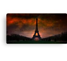 Bonsoir Paris Canvas Print