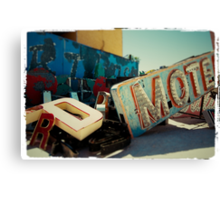 Neon Motel Canvas Print