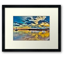 Sunsets at the Saugersties Lighthouse Framed Print