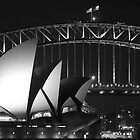 Sydney Harbour Bridge and Opera House Close up by Andrew  MCKENZIE