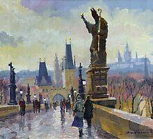 Prague Charles Bridge 04 by Yuriy Shevchuk