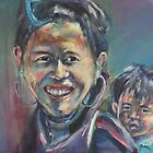 cambodian mother and son by christine purtle