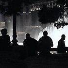 fountain silhouettes by greeneyedlady