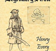 Pirate Legends - Henry Every on Parchment by Peter Chapman
