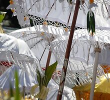 Bali processional umbrellas by Michael Brewer