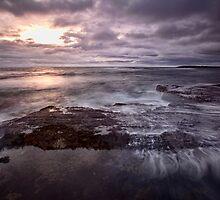 Barely A Sunrise - Blackwoods Beach, NSW by Malcolm Katon