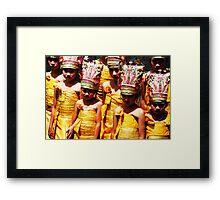 girls at puri agung ceremony Framed Print